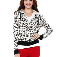 Papaya Clothing Online :: LEOPARD VELOUR JACKET