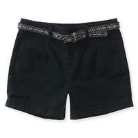 High-Waist Black Wash Shorty Shorts