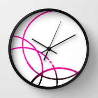Circles Overlap 2 Wall Clock by Jensen Merrell Designs