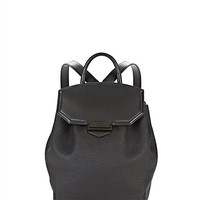 Black Prisma Skeletal Backpack In Embossed Black With Matte Black - Alexander Wang