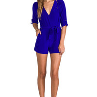Yumi Kim Beth Romper in Dodger Blue