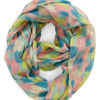 David & Young 'Abstract Ikat' Infinity Scarf (Juniors) | Nordstrom