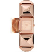 VINCE CAMUTO Rose Gold Tone Pyramid Cover Watch, 25mm