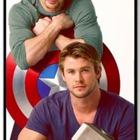 iPhone 5/5S Hard Back Case with Chris Hemsworth and Chris Evans Background By cutomizedonline
