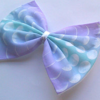 Pastel Moon Phase Printed Hair Bow