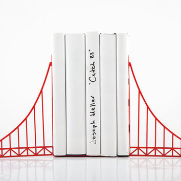 Bookends - Golden gate bridge - red