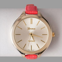 MONROE SKINNY BAND WATCH IN CORAL