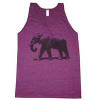 Happy Family Elephant Unisex American Apparel Tank Top