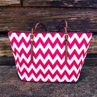 He Loves Me Chevron Purse