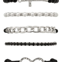 infinity and cross bracelet set