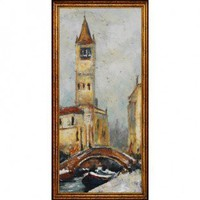Windsor Vanguard Campanille by Bridge I by Unknown - VC2116A - Canvas Art - Wall Art & Coverings - Decor