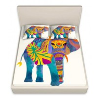 Pom Graphic Design's 'Whimsical Elephant I' | Designer Unique Bed Sheets