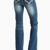 DAKOTA FLARE BUBBLE STITCH JEANS
