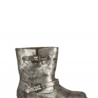 BAMBOO METALLIC BUCKLE BOOTS