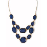 Shiny Stone Geometric Shapes Statement Necklace | Icing