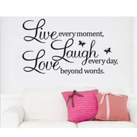 DIY! Live Laugh Love Removable Vinyl Wall Sticker Decal Wallpaper Art Home Decor