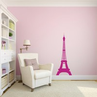 Paris Skyline Eiffel Tower - Vinyl Wall Art Decal for Homes, Offices, Kids Rooms, Nurseries, Schools, Preschools, Kindergartens, Elementary Schools, High Schools, Colleges, Universities, Businesses