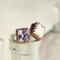 Crystal Waters Stud Earrings