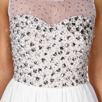 Pre-Order Celeste-White Prom Dress