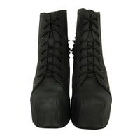 Jeffrey Campbell Women's Lita Spike Shoes - Black On Black Clothing - FREE UK Delivery