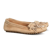 Suede Moccasin Loafers - from H&M