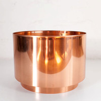 Round Copper Planter