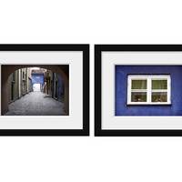 set of 2 photos get 25% off fine art photography travel print wall decor cobalt blue europe photography 4x6 5x7 6x8 8x10 8x11 10x15