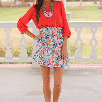 Flock Together Dress, Orange