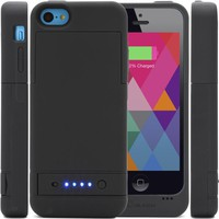 i-Blason Apple iPhone 5C PowerGlider [MFI APPROVED] Rechargeable External Battery Full Protection Case [iOS 7 Compatible] with Micro 5 Pin USB Charging Port - AT&T, Sprint, Verizon. T-Mobile (Black)