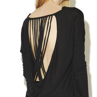 Draped Back Top | Arden B.