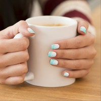 sparkly mint nail stickers
