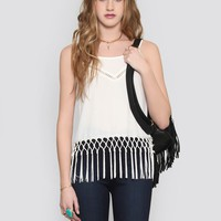 FREE BIRD FRINGE TOP
