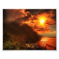 Beautiful Sunset Above The Ocean Photo Art Print