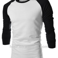 Alibaba.com - Wholesale 2014 Korean Style Slim Fit Fashion Hot Raglan Sleeves Hit Color T-shirt 5510