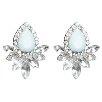 Glam Marquise Button Earring | Wet Seal