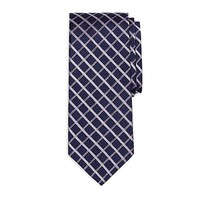Brooks Brothers Satin Windowpane Woven Silk Tie at Von Maur
