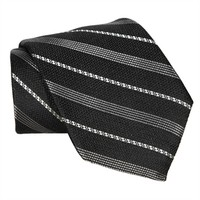 Hart Schaffner Marx Mini Link Striped Woven Silk Tie EXTRA LONG LENGTH at Von Maur