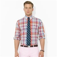 Polo Ralph Lauren Custom-Fit Plaid Poplin Sport Shirt at Von Maur