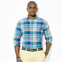 Polo Ralph Lauren Madras Bleecker Pocket Sport Shirt at Von Maur