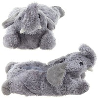 Wishpets Adult Medium Grey Elephant Feet Slippers