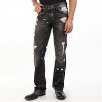 True Religion Men's Contemporary Ricky Grey Shade Straight Leg Jean at Von Maur
