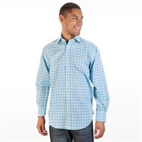Thomas Dean Poplin Plaid Button Up Shirt at Von Maur