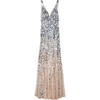 Rachel Gilbert Giselle d?grad? sequined gown
