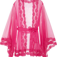 Agent Provocateur - Lacy Kimono lace-trimmed tulle robe