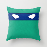Leonardo TMHT Throw Pillow by DesignDinamique