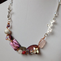 Purple OOAK Wired Necklace