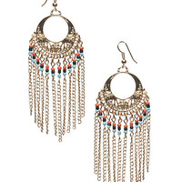 Beaded Fringe Earrings | Wet Seal