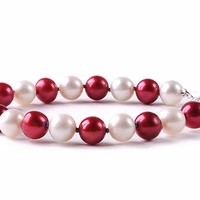 Buy Wisconsin Badgers Spirit Pearl Bracelet. Free Shipping