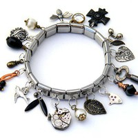 Steampunk Collection Stretch Charm Bracelet by ClosetGothic