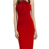 Bqueen Red Halter Sexy Sim Bodycon Dress BG080 #red #dress #sexy #halter #formal #party
